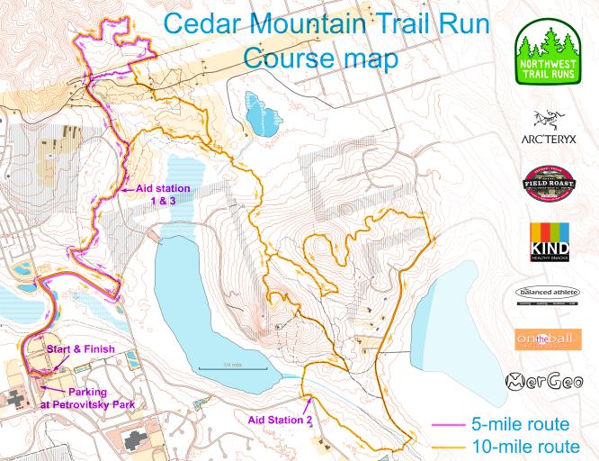 Cedar Mountain Course Map
