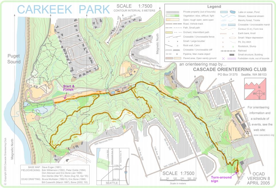 Carkeek Park Map NOV 4: Carkeek Cooler   5k & 10k trail run