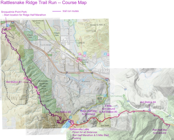 Rattlesnake Trail Run course map