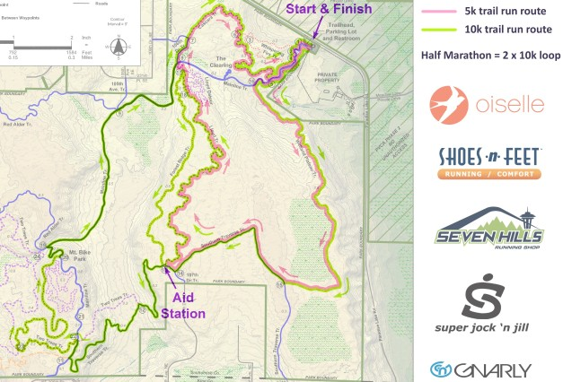 Paradise Valley Trail Run course map 2019