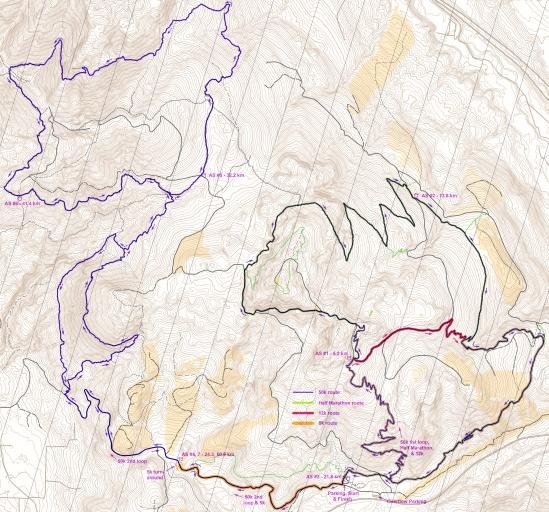 2021 Tiger Mountain Trail Run route map