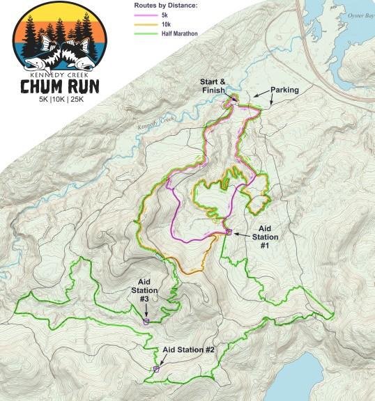 Kennedy Creek Chum Run course map