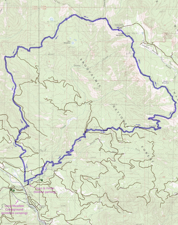 Quartz Mountain Trail Run 19-mile route map