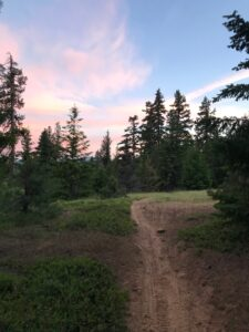 Quartz Creek Trail 949 at Sunset